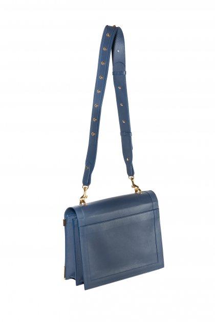 Victoria Bag (Blue) Gold